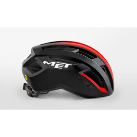 MET Vinci MIPS Kask, black/shaded red glossy